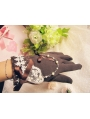 Brown Lace Bow Lolita Gloves