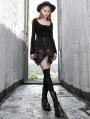 Black Street Fashion Gothic Summer Irregular Short Skirt