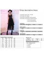 Black Street Fashion Gothic Lace Long Harness Style Dress