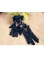 Black Bow Gothic Lolita Gloves
