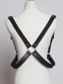 Black Gothic Punk PU Leather Belt Harness