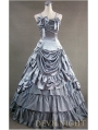 Luxuriant Sliver Sleeveless Gothic Masquerade Victorian Dress