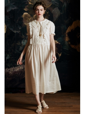 Vintage Sweet Short Sleeve Medieval Underwear Chemise Dress