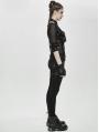 Black Gothic Punk PU Leather Pocket Harness