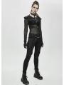 Black Gothic Punk Short Top for Women