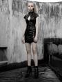 Black Cyber Prophet Futuristic Gothic Punk Sexy Short Dress