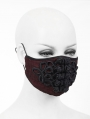Red and Black Vintage Gothic Mask for Women