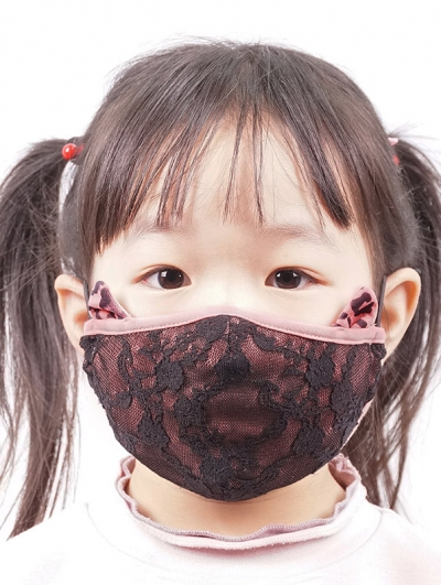 Pink Lace Sweet Gothic Mask for Children