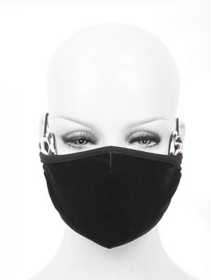 Black Gothic Cat Ear Mask for Women