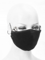 Black Gothic Cat Ear Mask for Women