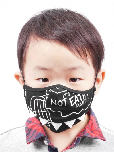 Black Gothic Punk Dinosaur Shape Mask for Children