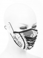 Black and White Romantic Lace Gothic Mask for Women