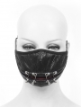 Black Gothic Punk PU Leather Unisex Mask