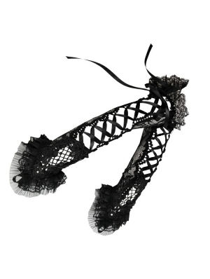 Black Gothic Lacey Gloves