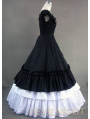 Classic Black and White Ruffled Sweet Gothic Victorian Dress