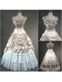 Classic Champagne Cap Sleeves Gothic Victorian Ball Gowns