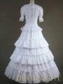 Classic White Long Prom Gothic Lolita Ball Gwons