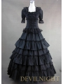 Classic Black Long Prom Gothic Lolita Dress