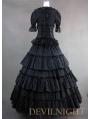 Classic Black Long Prom Gothic Lolita Dress