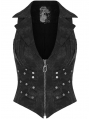 Doomsday Ruins Black Metal Gothic Punk Vest for Women