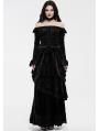 Black Gothic Victoria Royal Palace Velvet Shirt for Women