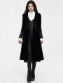Black Retro Noble Gothic Vampire Coat for Women