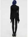 Black Retro Gothic Long Sleeve T-Shirt for Women