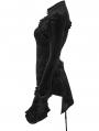 Black Retro Gorgeous Gothic Velvet Long Sleeve T-Shirt for Women