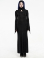 Black Gothic Jacquard Long Dress