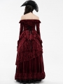 Red Gothic Victorian Gorgeous Court Long Skirt