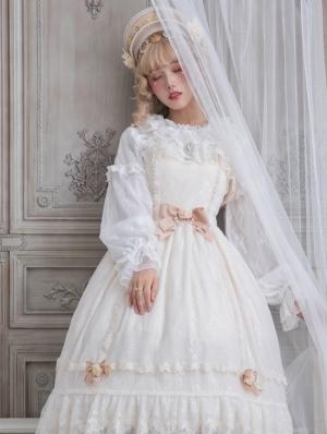 The Dawn Lady Beige Elegant French Lace Classic Lolita JSK Dress