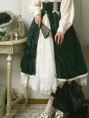 Mrs.Jennifer Green Classic Lolita Open Front Corset Skirt