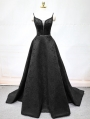 Black Sexy Jacquard Beading Gothic Wedding Dress