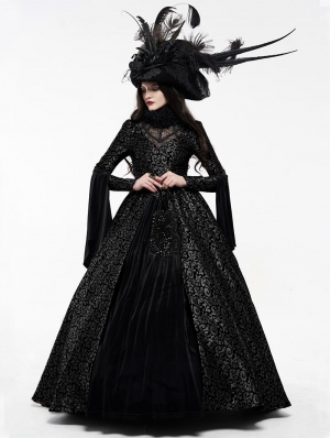 Black Gogerous Court Gothic Victorian dress