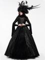 Black Gogerous Court Gothic Victorian dress