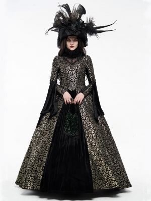 Gold Gogerous Court Gothic Victorian dress