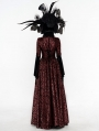 Red Gogerous Court Gothic Victorian dress
