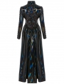 Cyber Rococo Laser Gothic Long Coat for Women
