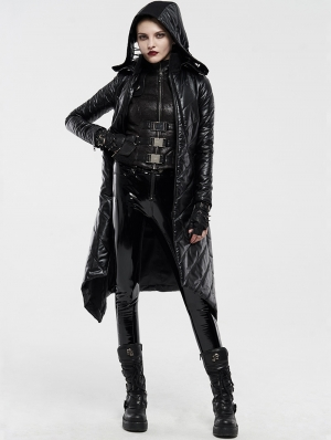 Dark Gothic Punk Winter Warm Long Coat for Women