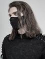 Black Gothic Daily Punk Rivet Mask for Men