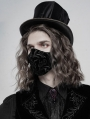 Black Gothic Embroidered Mask for Men