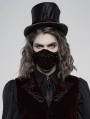 Red Gothic Embroidered Mask for Men