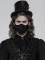 Black Gothic Jacquard Masks for Men