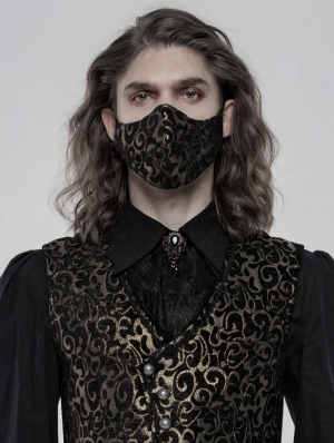 Gold Gothic Jacquard Masks for Men
