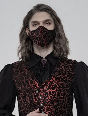 Red Gothic Jacquard Masks for Men
