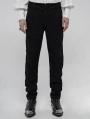 Black Retro Gothic Gorgeous Jacquard Pants for Men