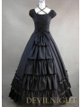 Gorgeous Classic Black Multi-Layered Skirt Gothic Victorian Dress