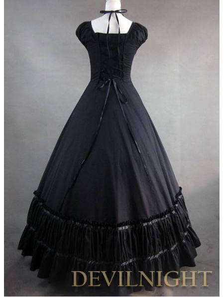 Gorgeous Classic Black Multi Layered Skirt Gothic
