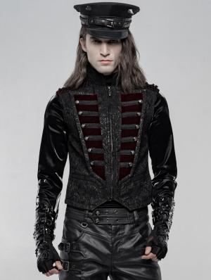Black Gorgeous Retro Gothic Vest for Men
