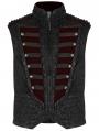 Black Gorgeous Retro Gothic Vest for Men